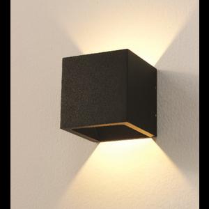 Wandlamp LED Cube Zwart IP54  Dim To Warm
