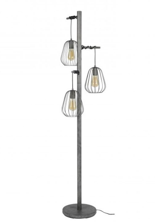 Vloerlamp Lampoon Old Silver 4 Lichts 173cm