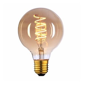 E27 4Watt Gold Spiraal 80mm  Dimbaar