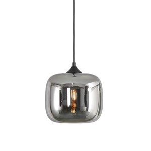 Artdelight Hanglamp Preston Zwart & Smoke Glas 24cm