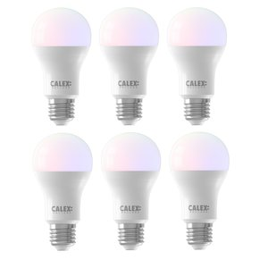 Calex E27 8.5Watt Smart Home Wifi RGB-Wit  6 Stuks