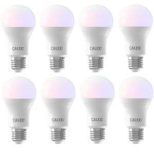 Calex E27 8.5Watt Smart Home Wifi RGB-Wit  8 Stuks