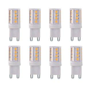 G9 4Watt Led Lamp incl. Stappendimmer 2700K 8 Stuks