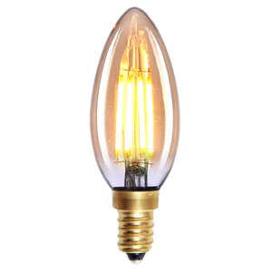 E14 4Watt Led Gold Dimbaar Kaars