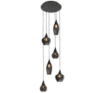 Hanglamp Cambio Black & Smoke  6 Lichts