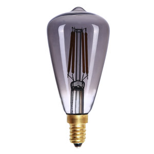 E14 4Watt Led Smoke Dimbaar  Edison