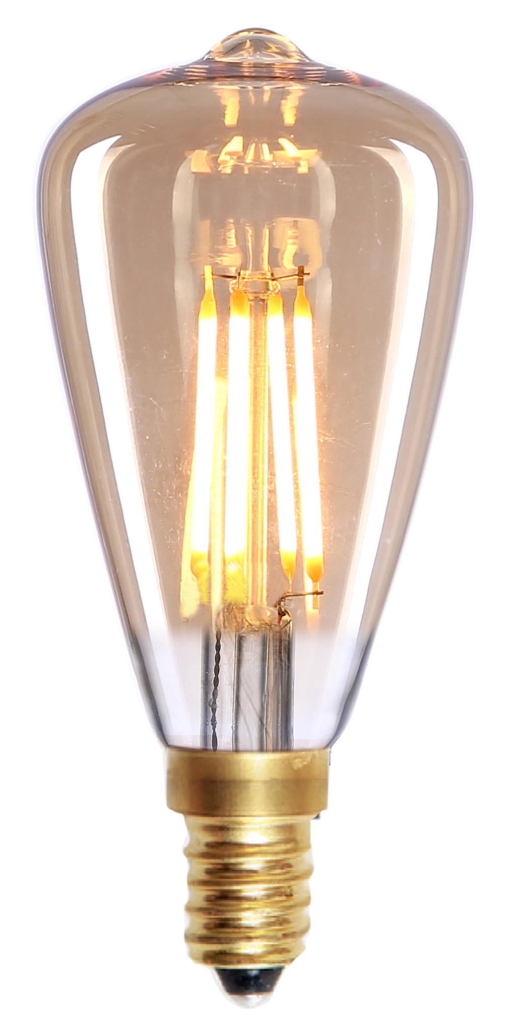 E14 4Watt Led Gold Dimbaar Edison