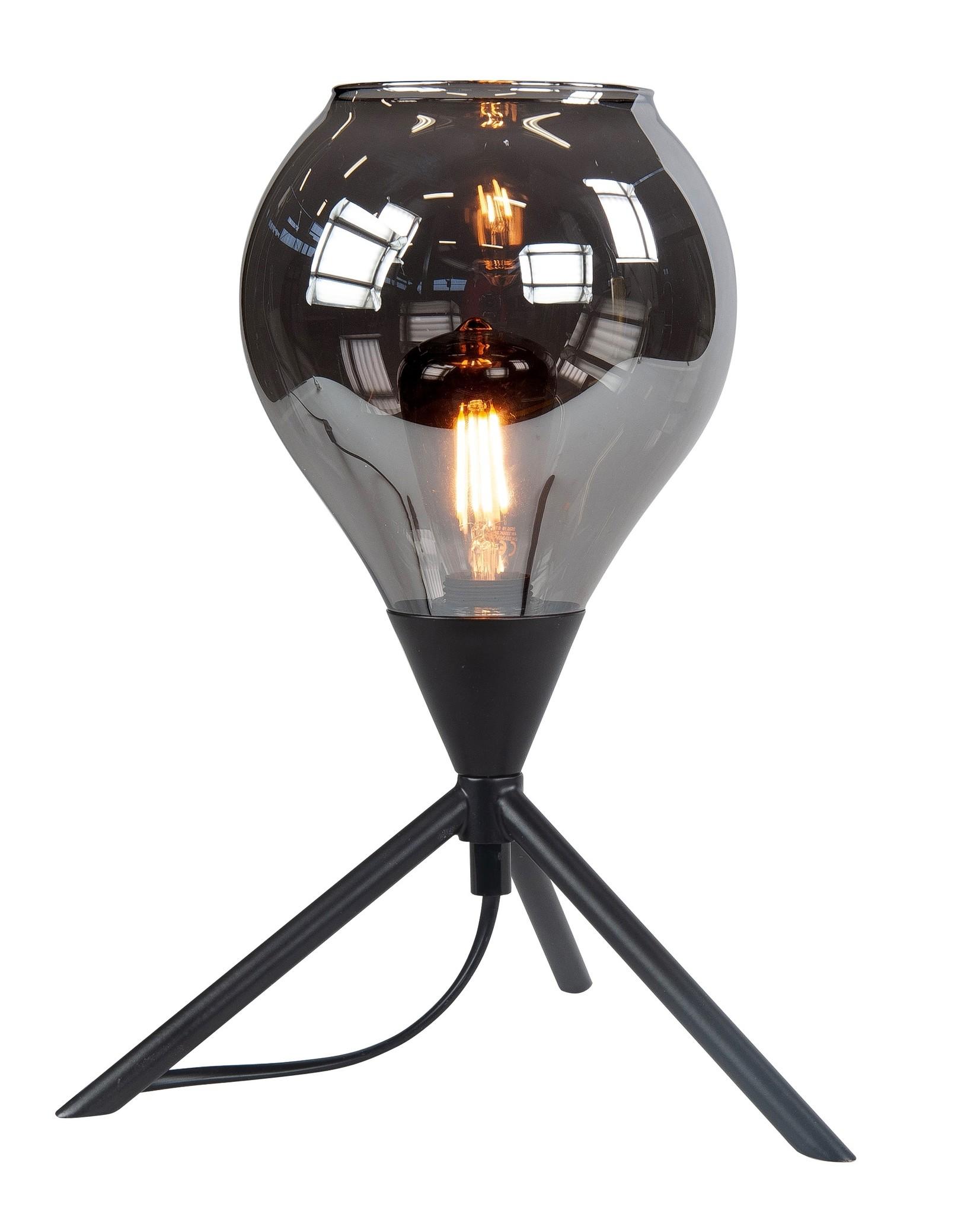 Tafellamp Cambio Black & Smoke 22cm �