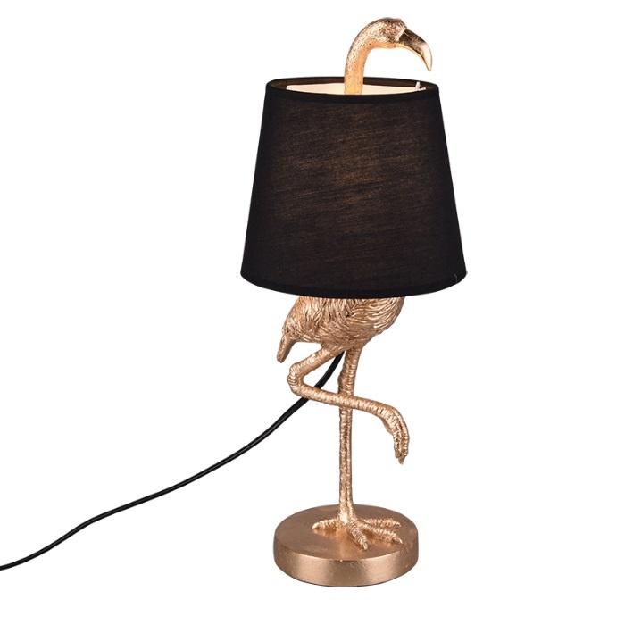 Tafellamp Lola Flamingo Goud 42cm