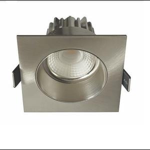 Artdelight Inbouwspot LED Vierkant Verdiept Staal