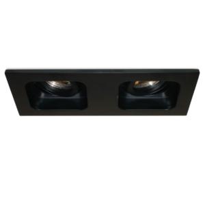 Inbouwspot Moggio Zwart GU10   2 Lichts