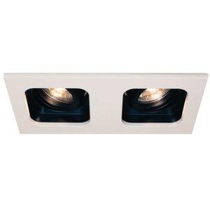 Inbouwspot Moggio Wit - Zwart GU10   2 Lichts
