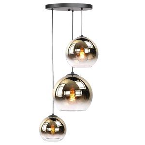 Hanglamp Balloon Gold Glas 3Lichts 160cm