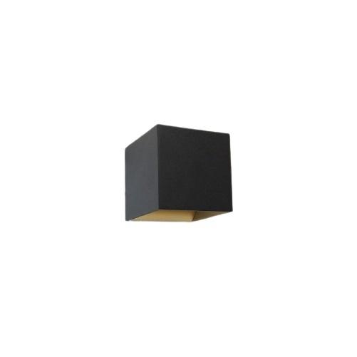 Artdelight Wandlamp Gymm Zwart Goud 10x10cm Excl. G9