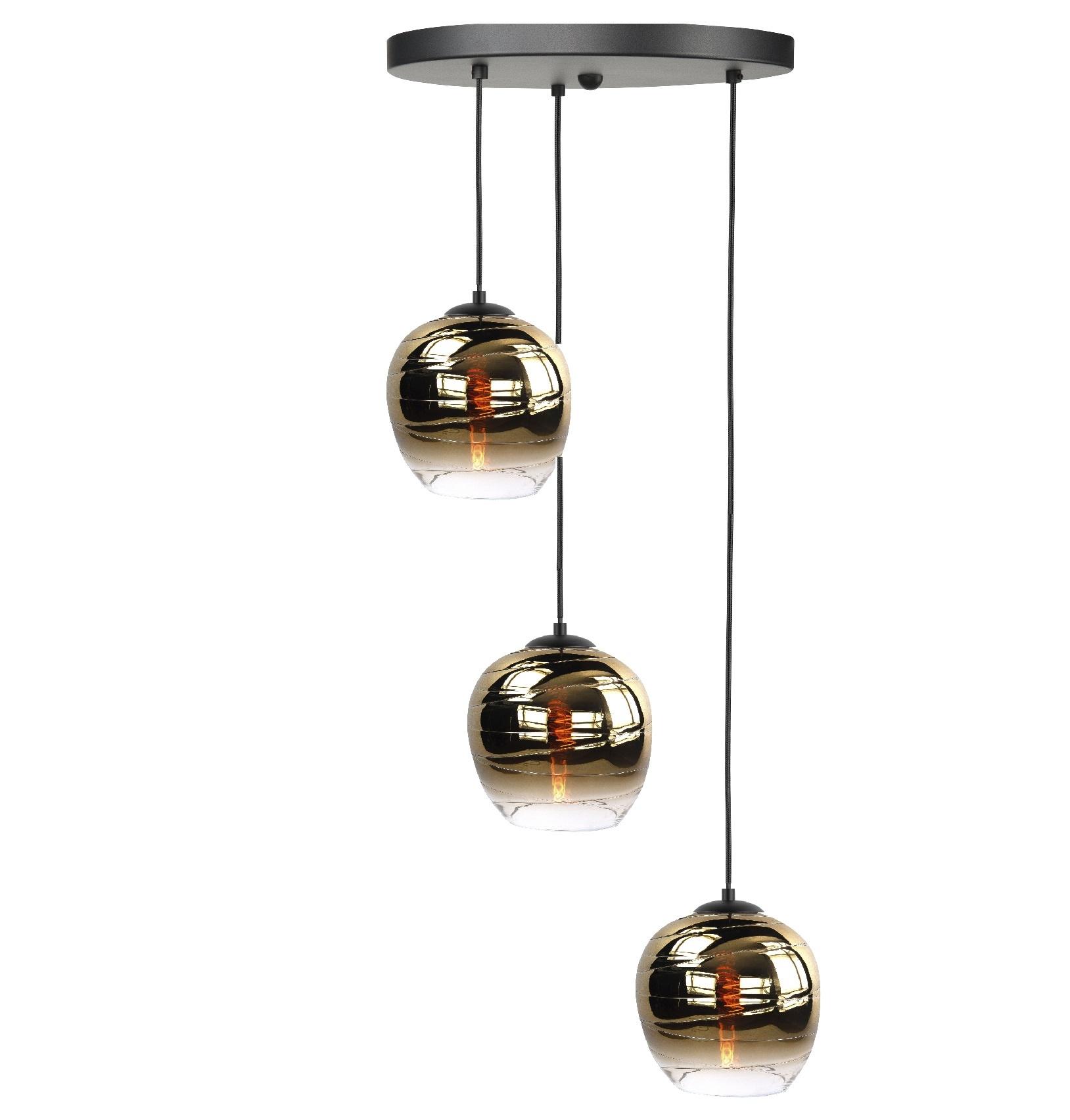 Hanglamp Fantasy Apple Gold 3 Lichts