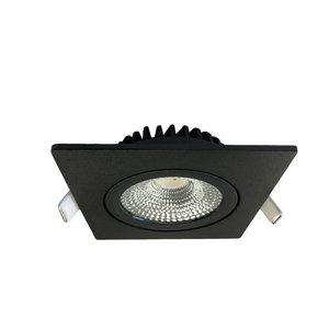 Inbouwspot Thin Vierkant Zwart IP44 Dim To Warm