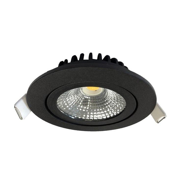 Inbouwspot Thin Rond Zwart IP44 Dim To Warm
