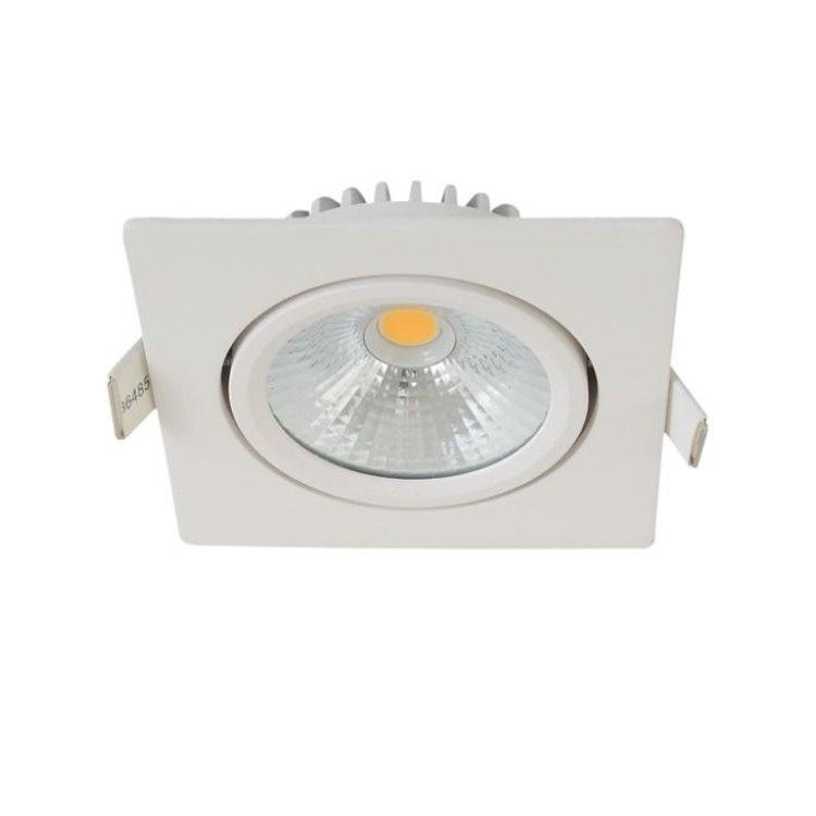 Inbouwspot Thin Vierkant Wit IP44 Dim To Warm