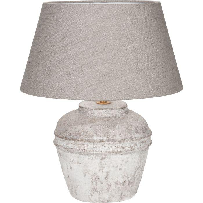 Tafellamp Kreta Scotch Linnen Grey