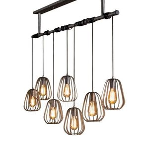 Hanglamp Lampoon Old Silver 7 Lichts 150cm