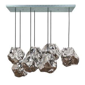 Hanglamp Rock Chrome Glas 7 Lichts