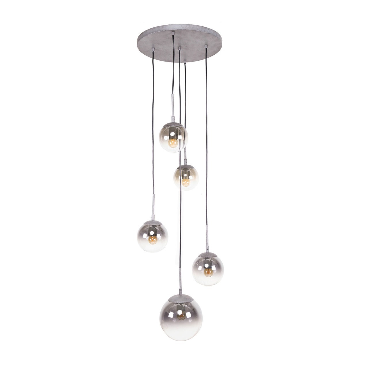 Hanglamp Bubble Shaded 5 Lichts 45cm �