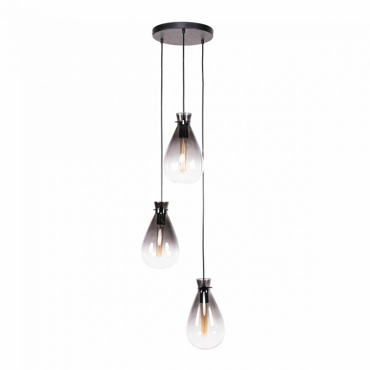 Hanglamp Nugget Shaded 3 Lichts 40cm �