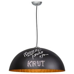 Hanglamp Mezzo Tondo Krijt Zwart / Goud 70cm Ø
