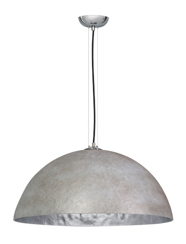 Hanglamp Mezzo Tondo Beton Grijs - Zilver 70cm Ø