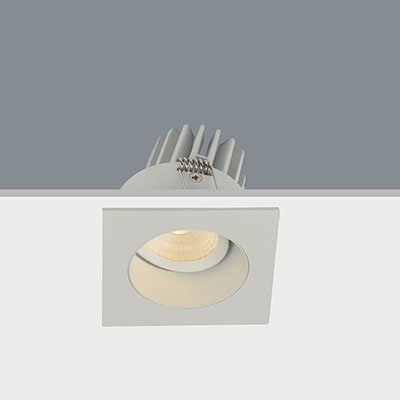Inbouwspot LED Wit Vierkant Verdiept IP44