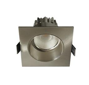 Inbouwspot LED Vierkant Verdiept Staal