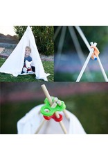 Stick-lets Stick-lets Buurtpakket Kit 36 stuks voor het bouwen van hutten, tenten, geometrie