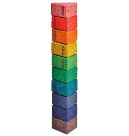 Korxx Triangle C - 10 gekleurde driehoek bouwstenen