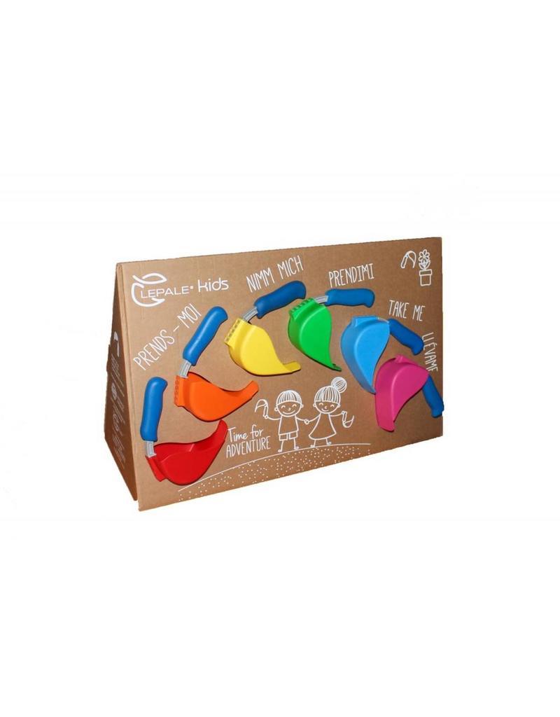 Lepale Lepale display 12 kinderschepjes 6 verschillende kleuren