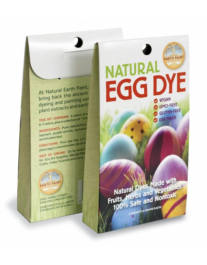 Natural Earth Paint Natural Egg Dye Kit with 4 vegan dyes.