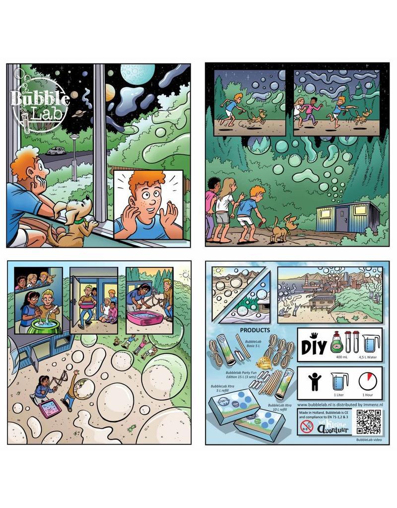 BubbleLab BubbleLab zeepbellen brouwen - 1 set stokken en bellenpoeder voor 5 liter sop