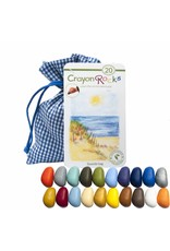 Crayon Rocks Twenty (20) Crayon Rocks in een blue-white gingham bag with sea, sky and beach colors