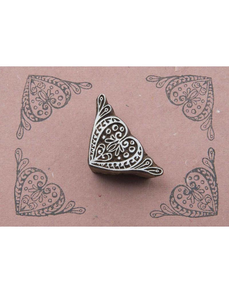 Blockwallah Block stamp Heart-corner