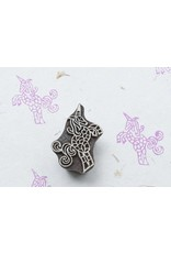Blockwallah Blokstempel beautiful Unicorn