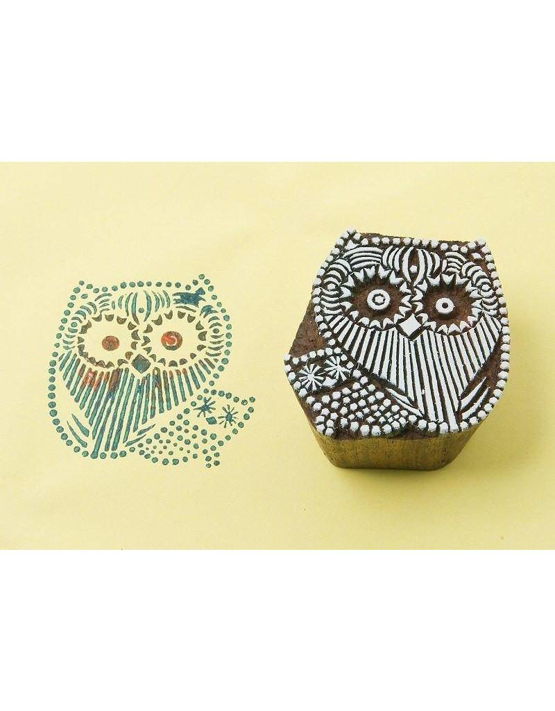 Blockwallah Blokstempel Owl family