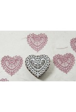 Blockwallah Blokstempel Lace heart