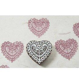 Blockwallah Block stamp  Lace heart
