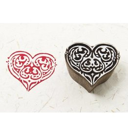 Blockwallah Blokstempel Tribal Heart