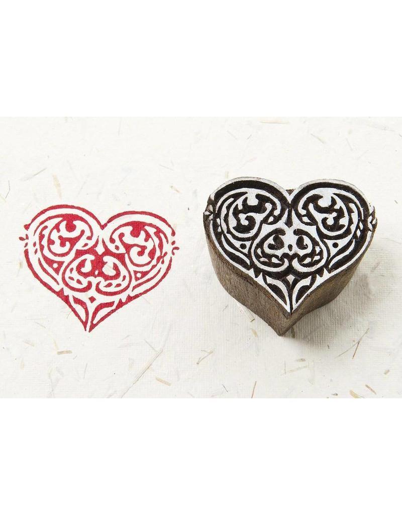 Blockwallah Block stamp  Tribal Heart
