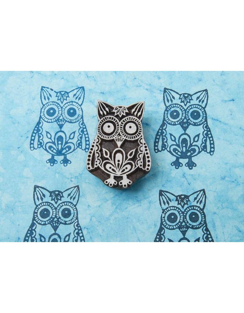 Blockwallah Block stamp  Exotic Owl