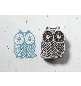 Blockwallah Block stamp  Curious Owl 011