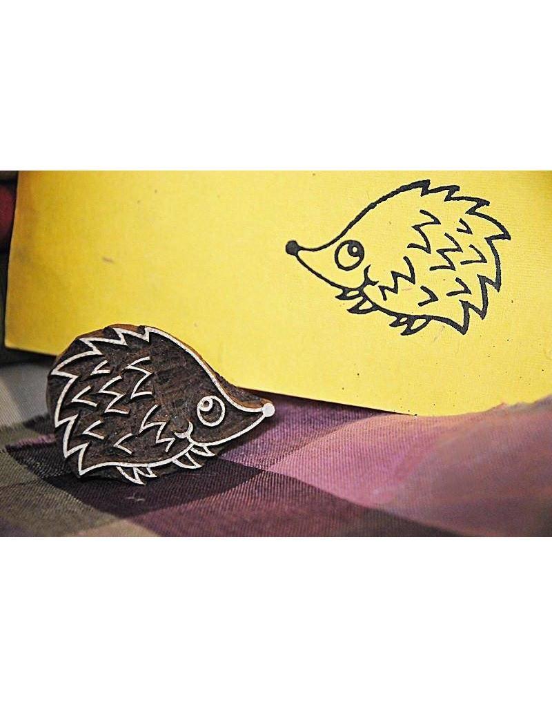 Blockwallah Block stamp Hedgehog