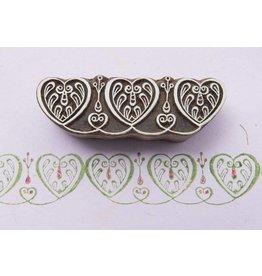 Blockwallah Block stamp Border hearts