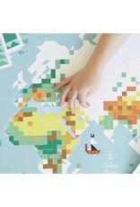 Poppik Make your own sticker poster - WORLD MAP