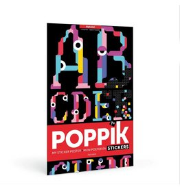 Poppik Make your own sticker poster - Alfabet